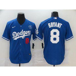 LA Dodgers #8 Kobe Bryant Blue Jersey